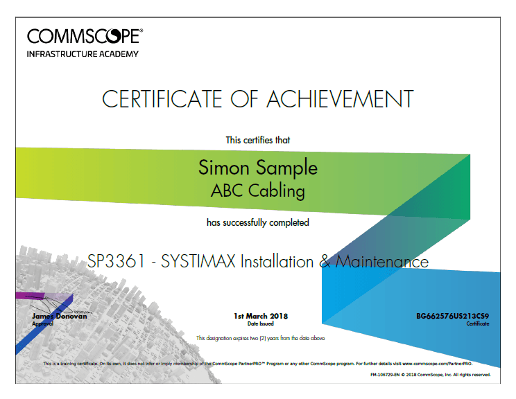 CommScope training badge
